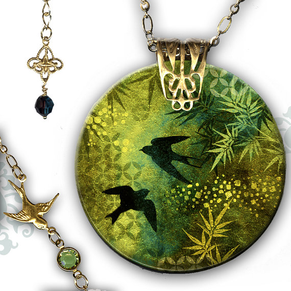 graphic design decoupage jewelry