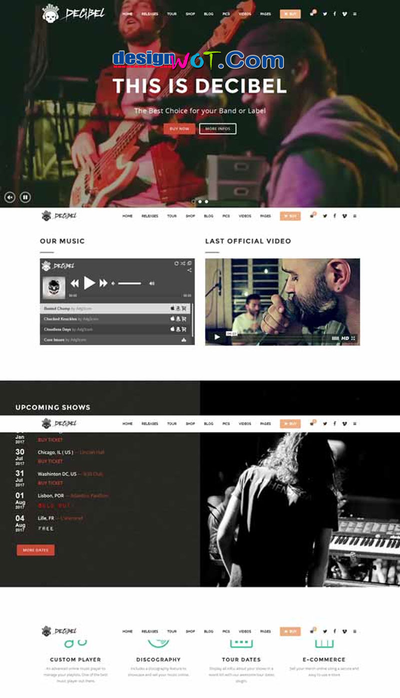 Decibel - Professional Music WordPress Theme