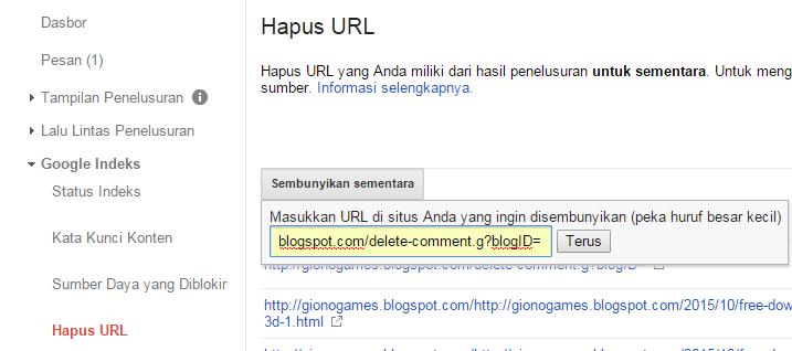 Cara Memperbaiki Crawl URL Error 404 Not Found Pada Blog