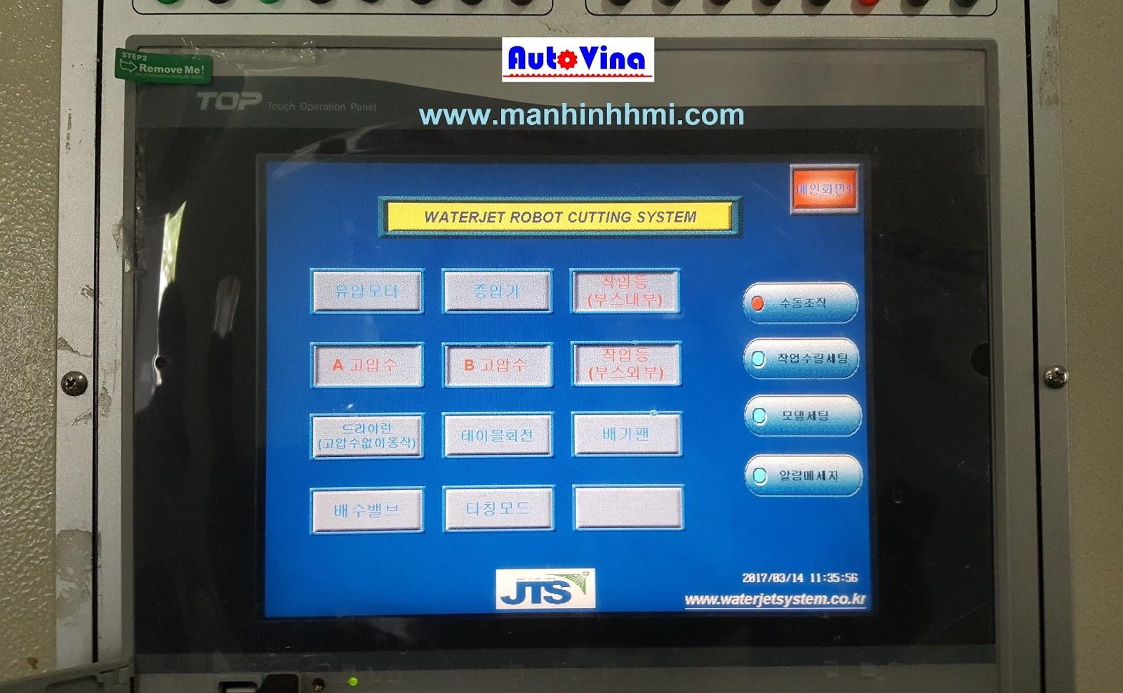 Hình ảnh màn hình cảm ứng HMI hãng M2I XTOP10TS-SA trên tủ điện