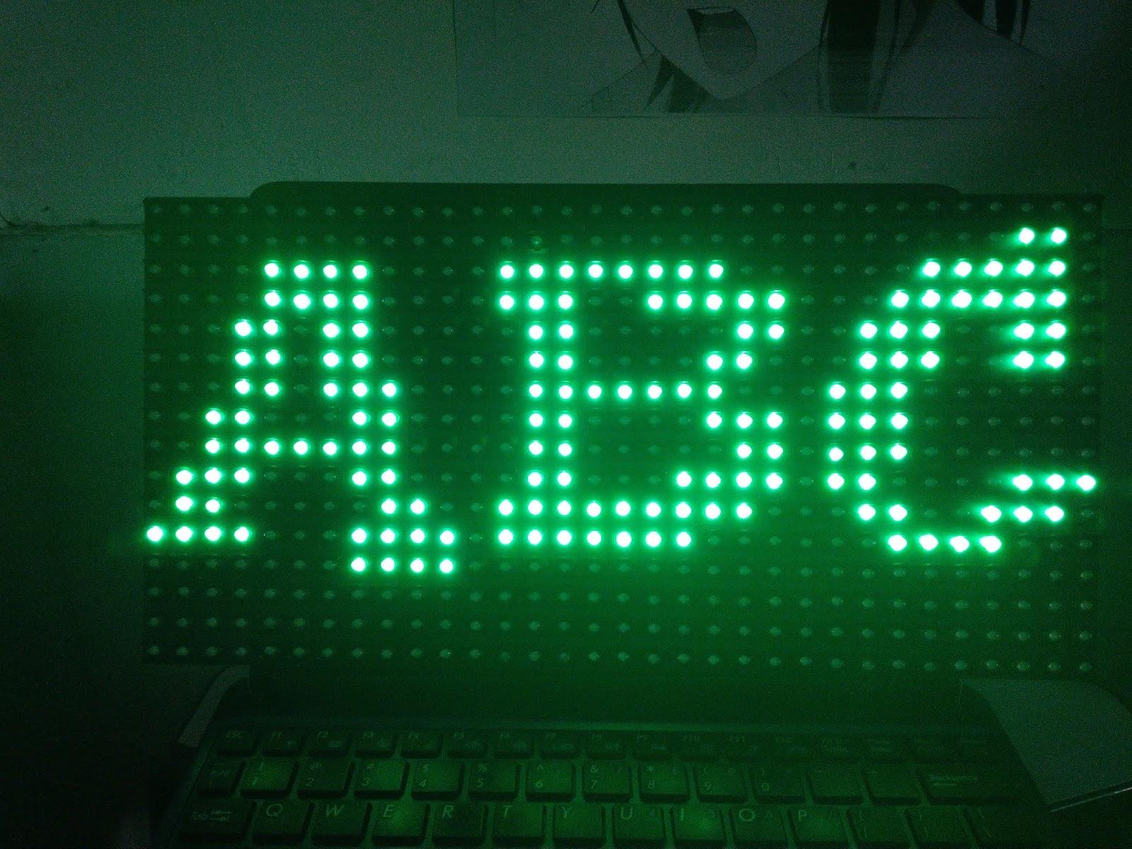 Cara Membuat Font Header DMD Arduino - Berbagi Tulisan