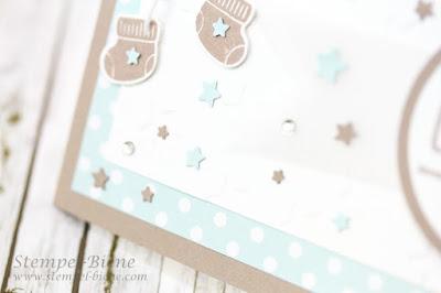 Stampin Up Sweet Li`l One, Babykarte Junge, Sternenkarte zur Geburt, Sockenframelits, Match the Sketch, Stempel-Biene, Stampinup Sammelbestellung, Sonderangebote Stampin Up, Stampin Up Herbskatalog 2015
