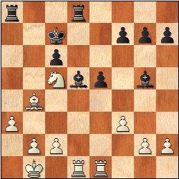 Partida ajedrez Alexander Domene – Gerard Añó, II Memorial Arturo Pomar Salamanca 2017, Sub-10, posición después de 21…The1