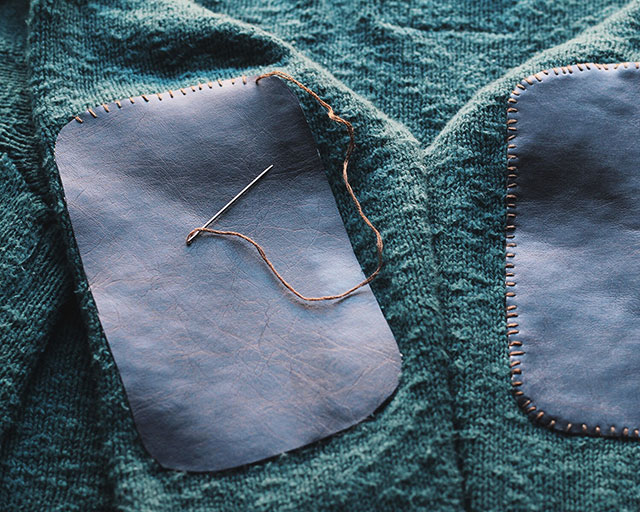 How to | make elbow patches: Stitch, stitch, stitch!