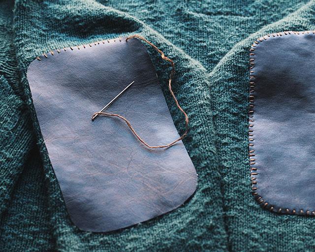 How to | make elbow patches: Stitch, stitch, stitch!