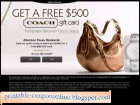 Coach printable coupons january 2018