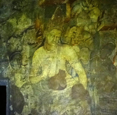 Painting of Padmapani - guide for Ajanta cave - 1