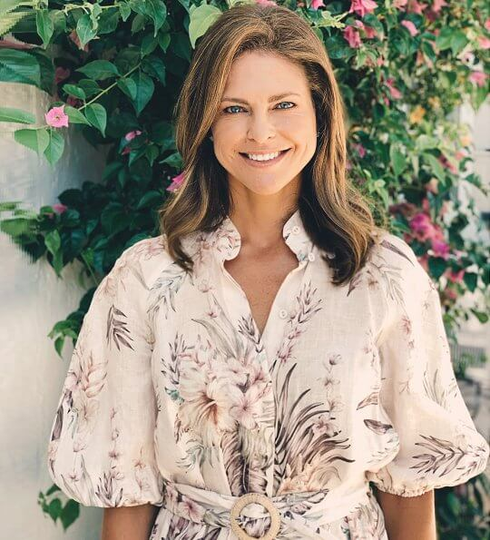Princess Madeleine is wearing a new Zimmermann summer floral print mini dress to mark her 38th birthday