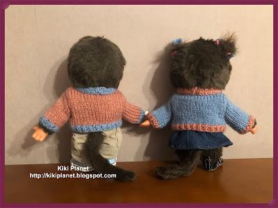 kiki monchhichi tricot pull vêtement handmade fait main knitting clothes