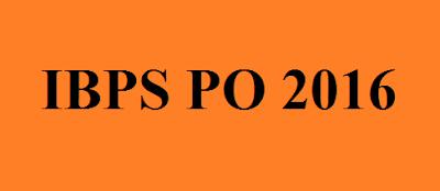IBPS PO 2016