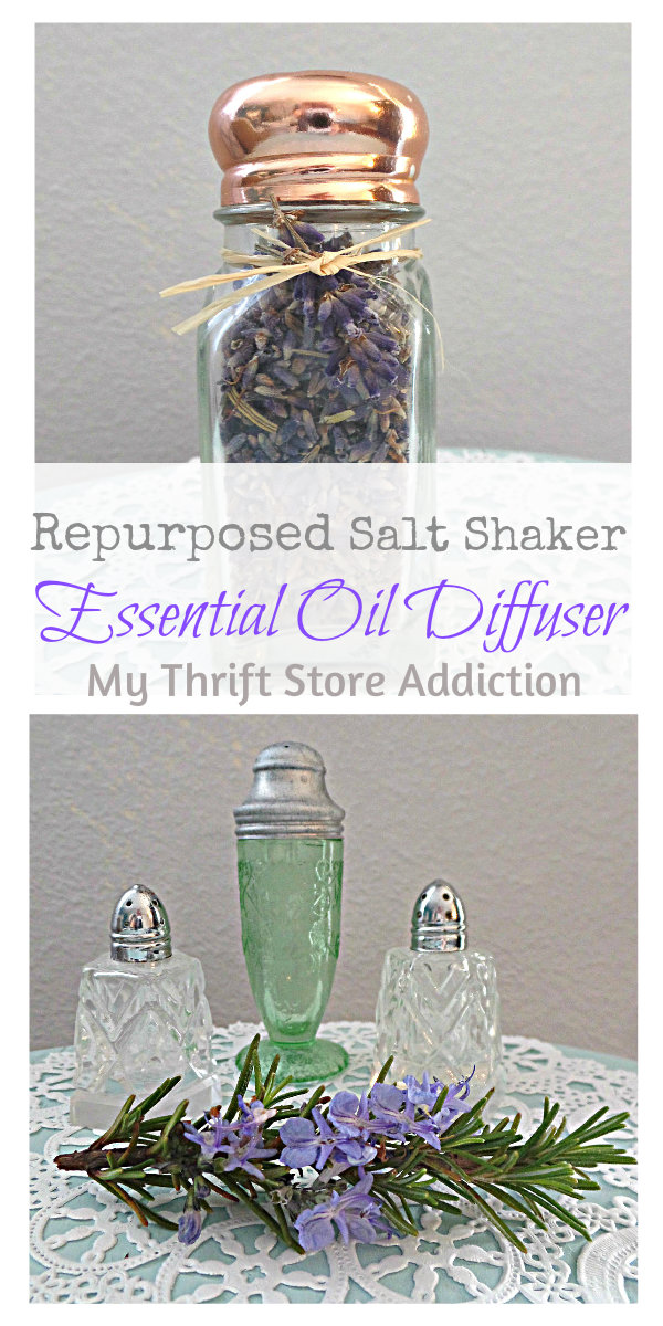 repurposed salt shaker essential oil diffuser