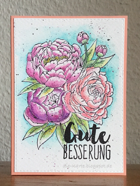 """Blooming Bunch"" Studio Katia, ""Gute Besserung"" Klartext Stempel"