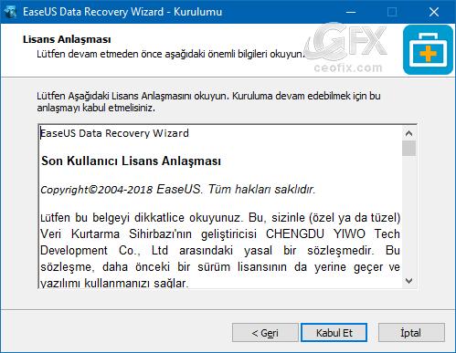 ücretsiz veri kurtarma yazılımı