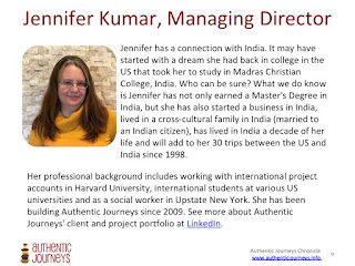 Jennifer Kumar, Authentic Journeys Bio