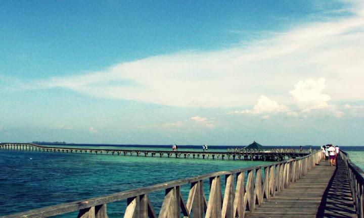 wisata pulau tidung, explore jembatan cinta