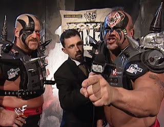 WWE / WWF Royal Rumble 1998 - The Legion of Doom promise to destroy the New Age Outlaws