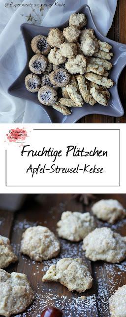 Apfel-Streusel-Kekse {Weihnachtsbäckerei} | Backen | Rezept | Weihnachten