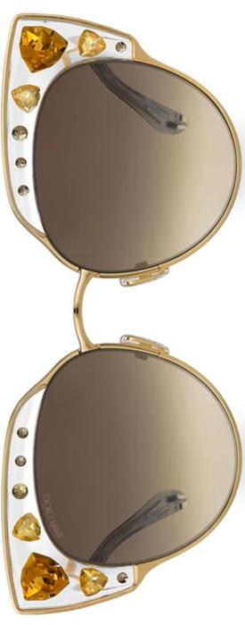 Jimmy Choo Audrey 54MM Cat Eye Sunglasses in Gold