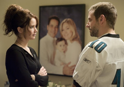 Silver Linings Playbook med Bradley Cooper och Jennifer Lawrence