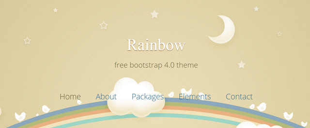 Rainbow Bootstrap HTML5 Responsive Website Templates