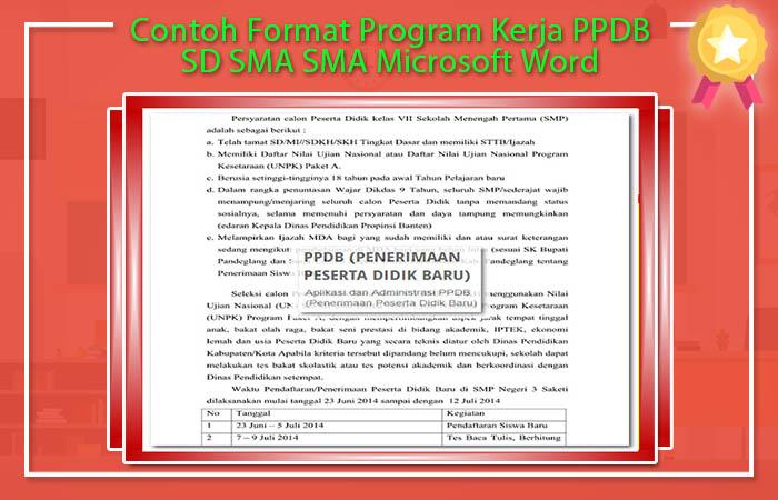 Contoh Format Program Kerja