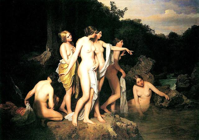 Ferdinand Georg Waldmüller: Donne al ruscello