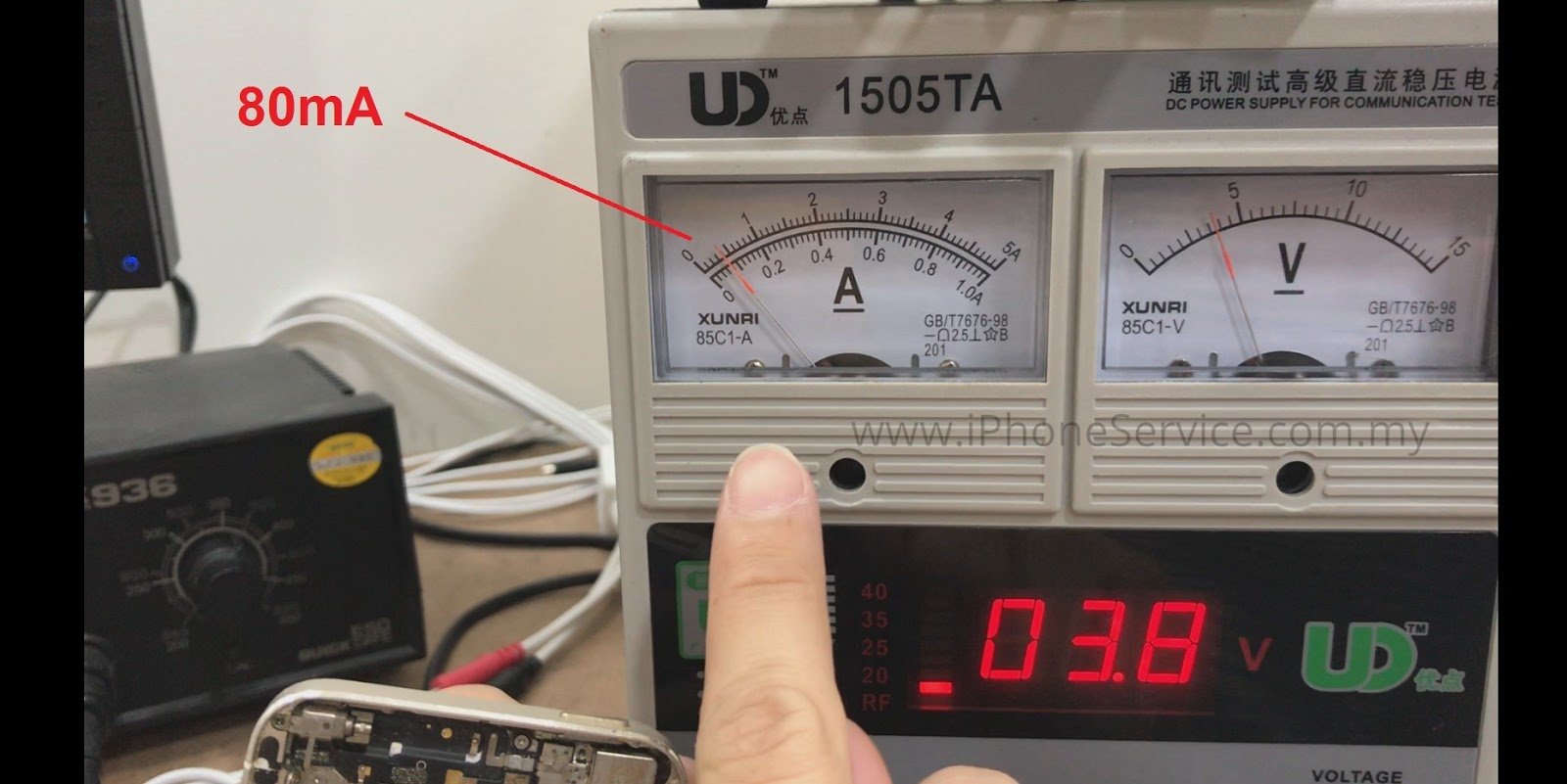 Iphone Repair Service In Malaysia 2018 6 Cable Schematic A Normal Would Raise From 0 Into 80ma Then Drop Back Position This Is What We Called Boot Up Test