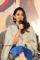 Actress Rakul Preet Singh Stills in Blue Salwar Kameez at Rarandi Veduka Chudam Press Meet  0057.JPG