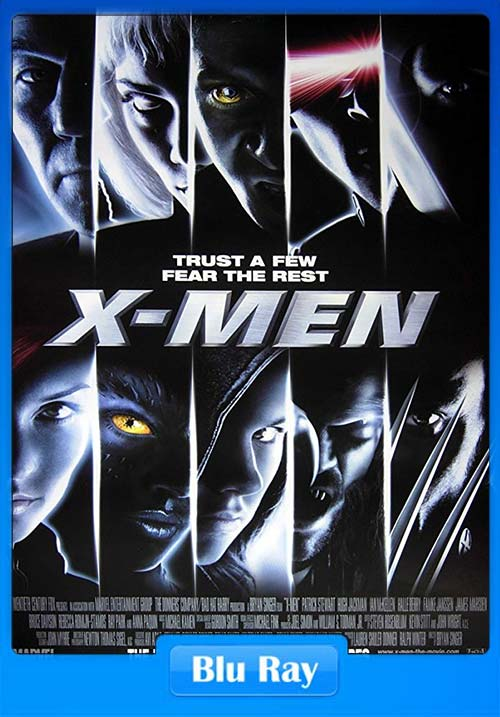 X-Men 1 2000 BRRip 720p Hindi Dual Audio x264 | 480p 300MB | 100MB HEVC