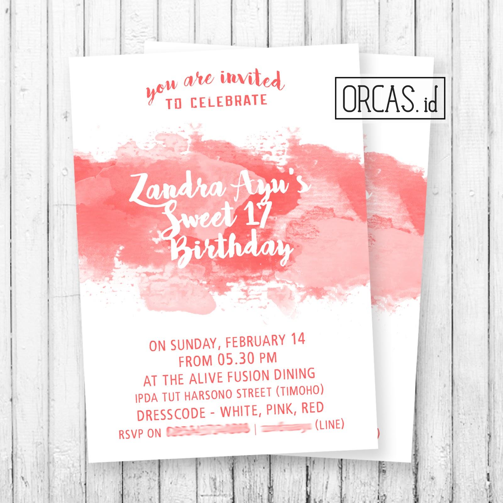 Zandra S Birthday E Invitation Card Paper Style Orcas Id
