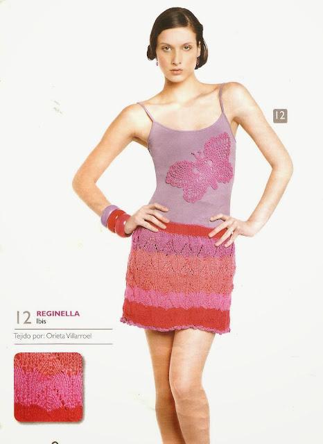 Patrón #1575: Vestido a Crochet