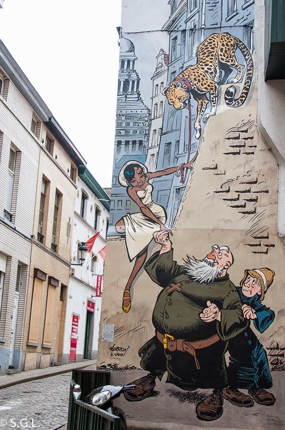 Odilon Verjus en la ruta del comic en Bruselas