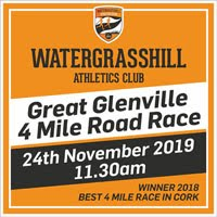 Popular 4 mile race just to the N of Cork City - Sun 24th Nov 2019