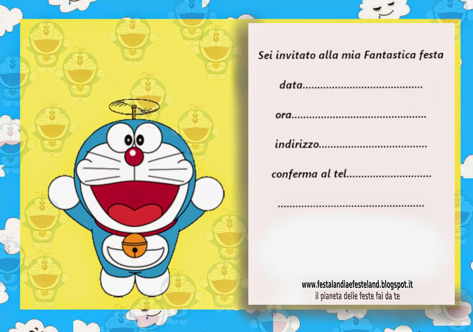 Festalandia e festeland doraemon party kit gratis for Doraemon immagini da colorare