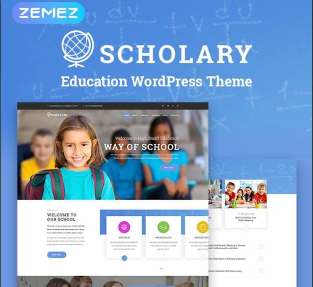 Scholary - Template Keren untuk Website Sekolah