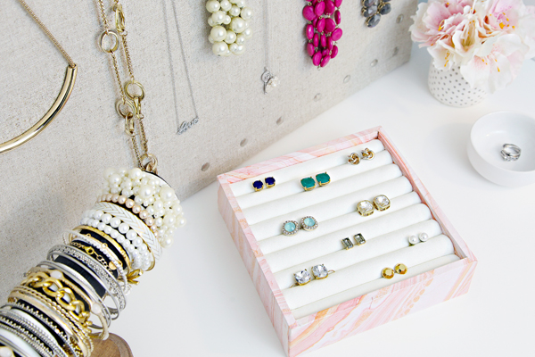 Iheart Organizing Diy Ring Earring Jewelry Organizer
