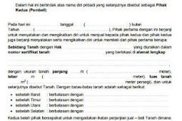 Download Contoh Surat Jual Beli Tanah Lengkap Siap Edit