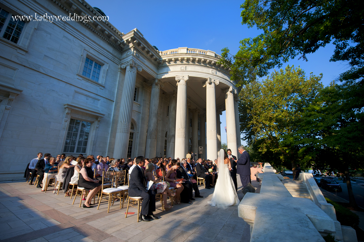 Wedding Ceremony Outside In Washington Dc