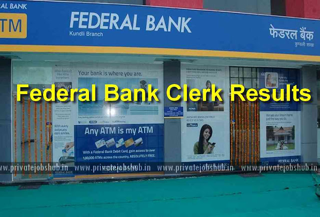 Federal Bank Clerk Results