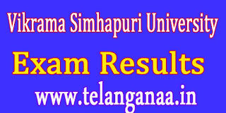 Vikrama Simhapuri University B.Tech 4th Year  Adv Supply - Instant July 2016 Exam Results
