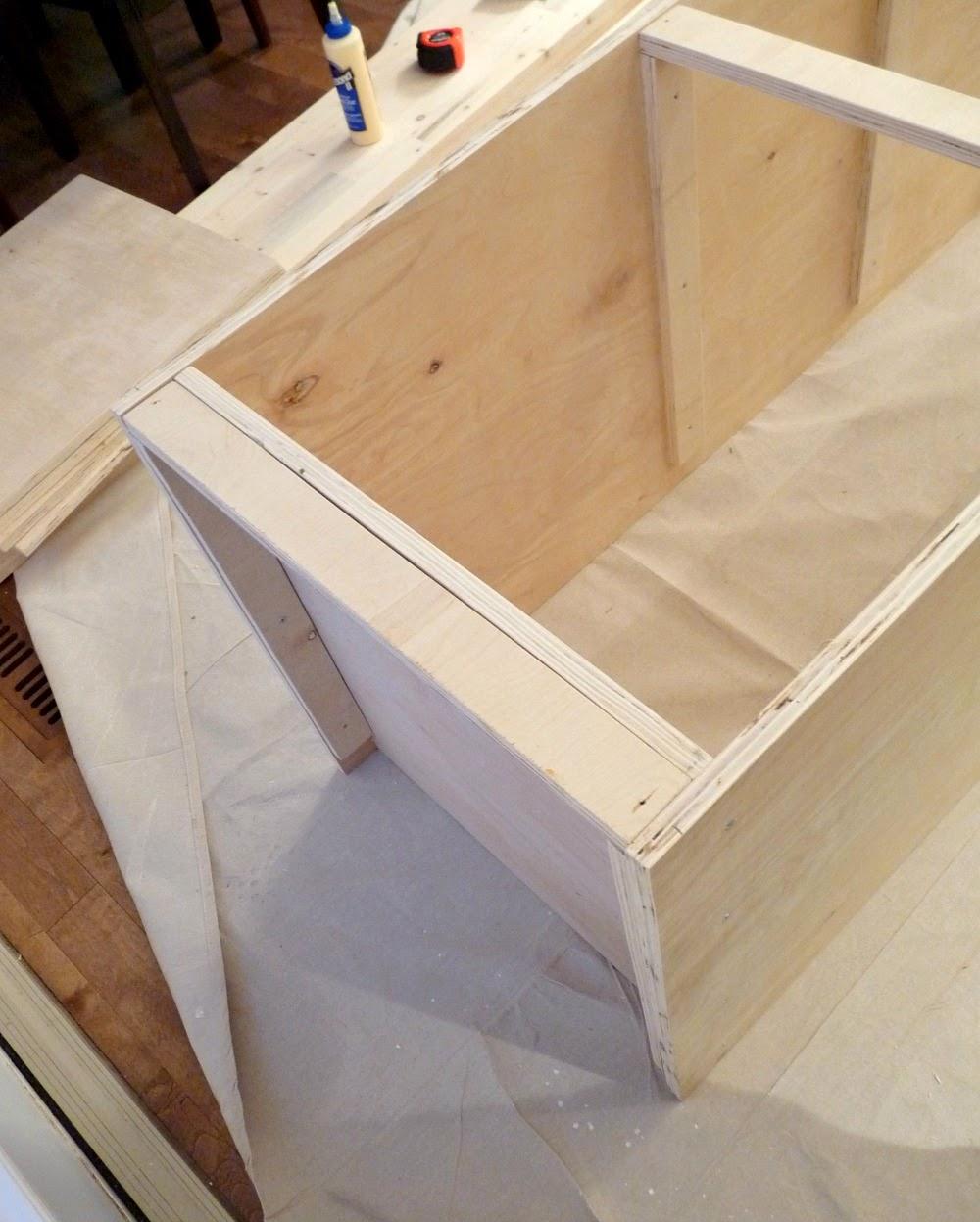DIY Plywood Kitchen Cabinet