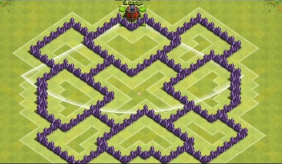 clash of clans 7. seviye köy binas? düzeni