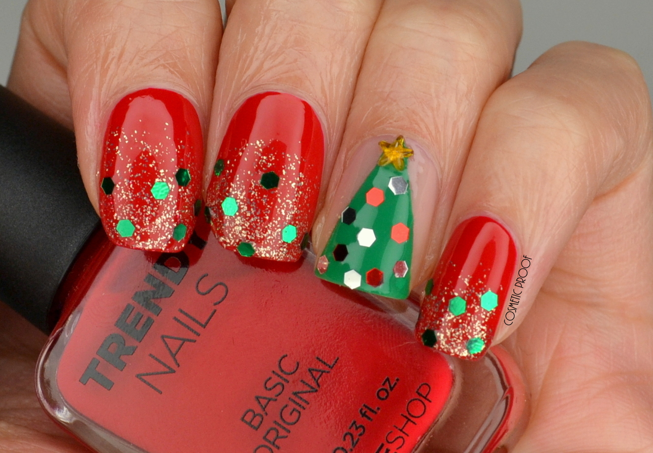 NAILS | Merry Christmas Glitter! | Cosmetic Proof | Vancouver beauty ...