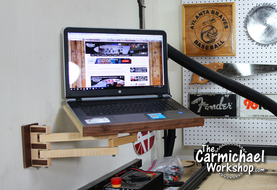 DIY Laptop Wall Mount with Articulating Arm