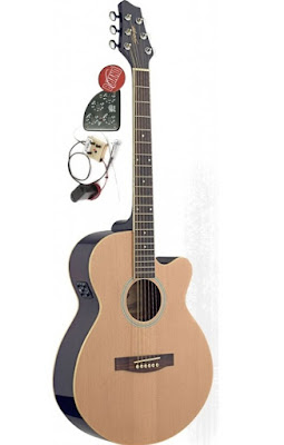 Đàn guitar Acoustic Stagg SW206CETU-N