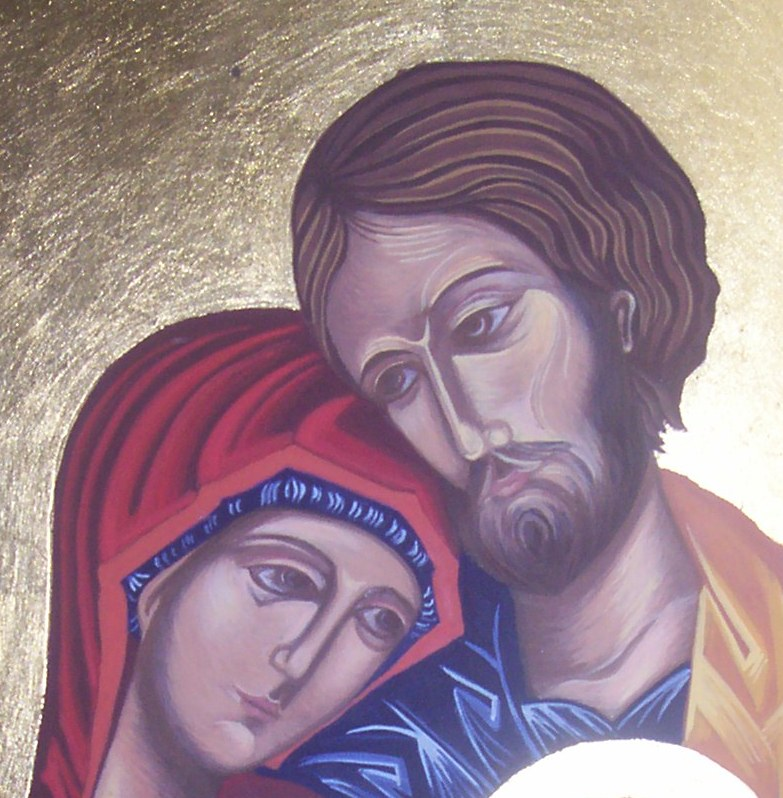 Image result for mary and joseph icon art