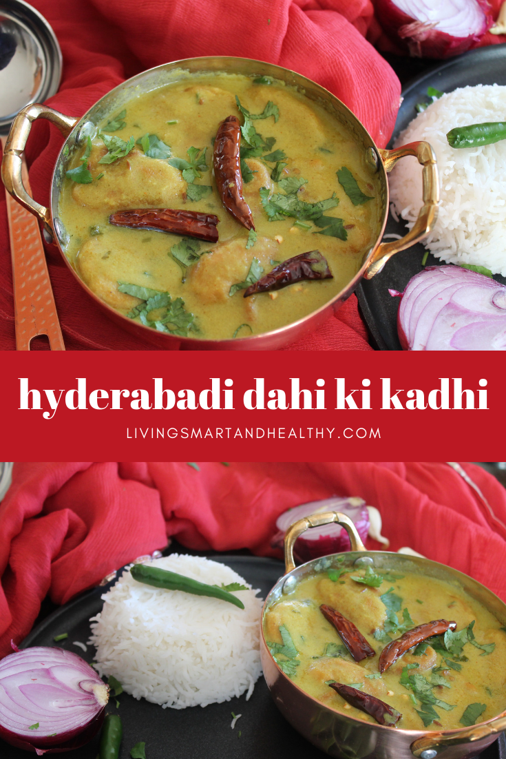 Hyderabadi Dahi Ki Kadhi / Yogurt Curry - Instant Pot, Stove Top