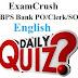 English Quiz 1 For Bank/IPPB