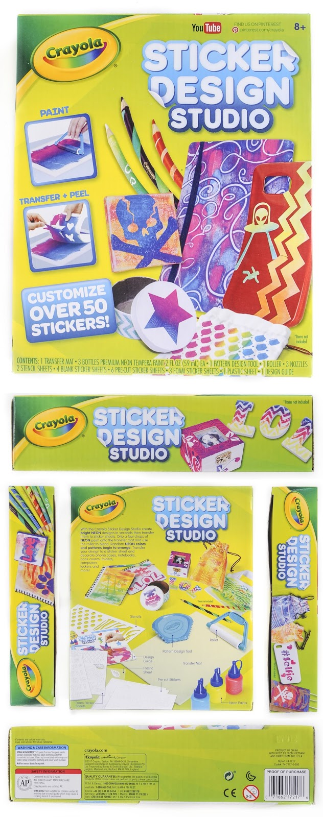 Review Crayola Sticker Design Studio Jenny 39 S Crayon Collection