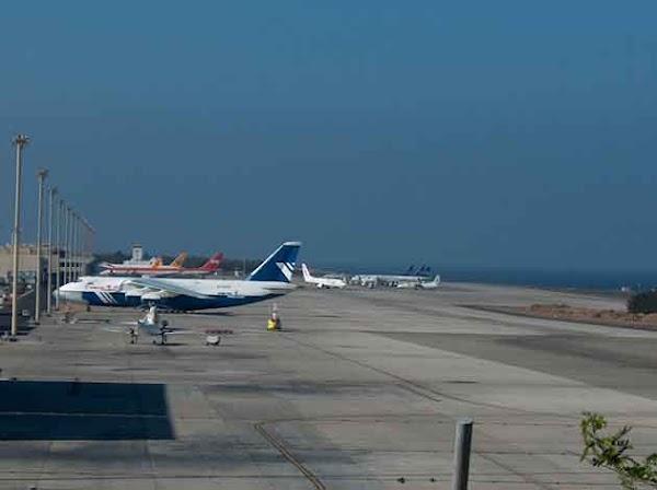 Aeropuertos de Canarias con problemas por el temporal del 12 de febrero